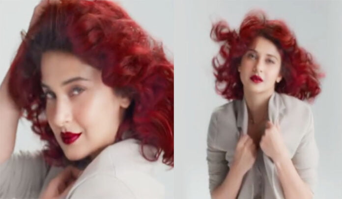 Jennifer Winget flaunts her bold new Cherry Red hair colour transformation