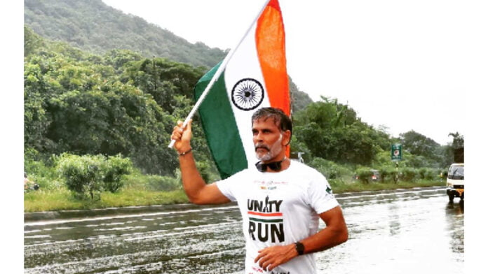 Milind Soman finishes 8-day run at Statue of Unity