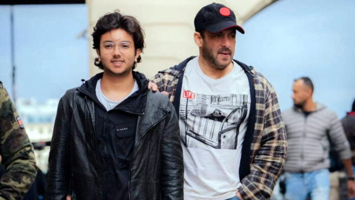 Superstar Salman Khan shared a picture with his nephew Nirvan Khan from Russia where he is shooting the upcoming spy thriller 'Tiger 3'.