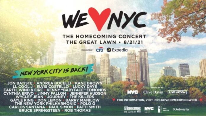 NYC gears up for USA's largest megastar concert