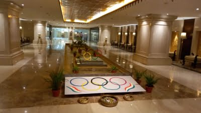 Indian Olympic contingent lands, Hotel Ashoka decked to welcome it