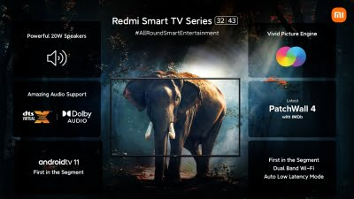 Redmi launches 32-inch and 43-inch Smart TVs