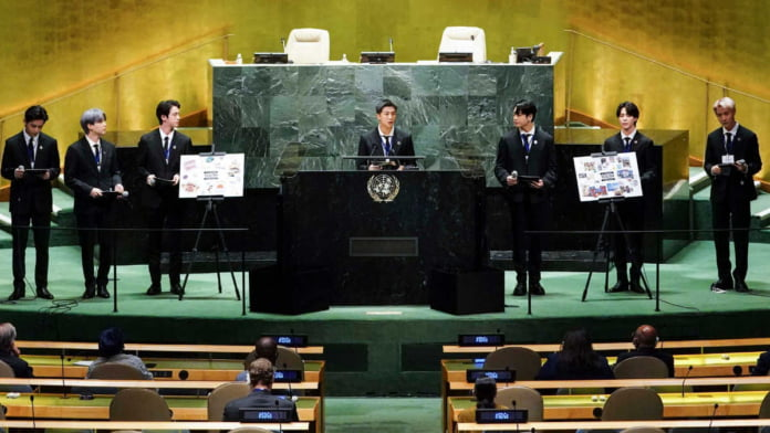 BTS delivers speech and performs at 76th UN General Assembly