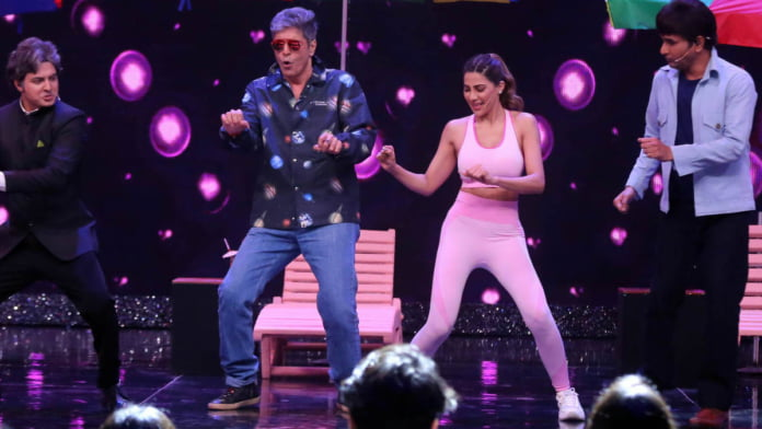 Nikki Tamboli's a fan of Chunky Pandey, shakes a leg with him