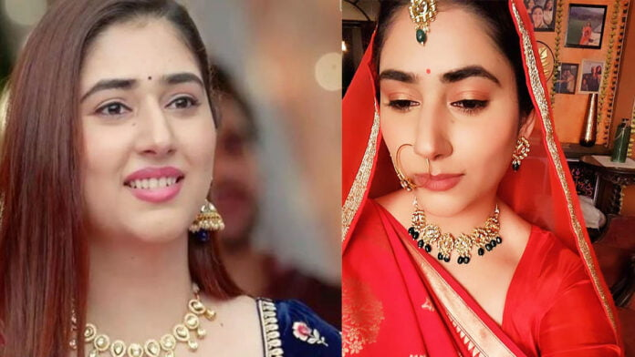 Disha Parmar giving us Dulhan vibes from the sets of Bade Achhe Lagte Hain 2