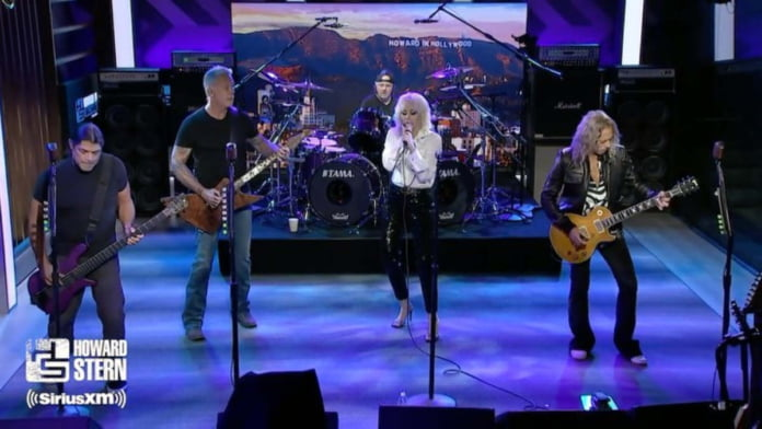 Miley Cyrus, Metallica perform 'Nothing Else Matters' on The Howard Stern Show
