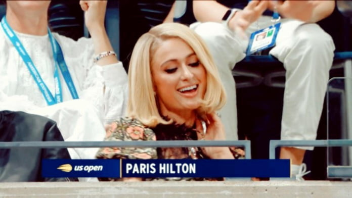 Paris Hilton's 'iconic moment' as her song played at US Open