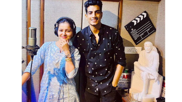 Rubina Dilaik records a song in her voice with Palash Mucchal for her upcoming film Ardh