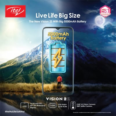 itel unveils premium affordable smartphone Vision 2S with big display, 5000mAh battery